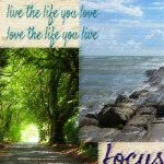 collage of images sea and forest tunnel words live the life you love ~ love the life you live