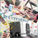 vision board collage of images and words- pen paper crayons stickers photos ~ get creative!